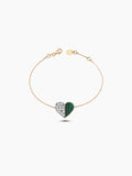 DEEP SPACE HEART MALACHITE BRACELET