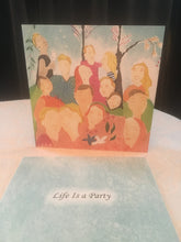 10 doble kunstkort - LIFE IS A PARTY