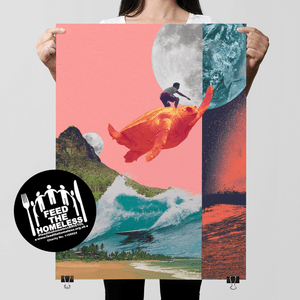 Surfing The Cosmos - Feed The Homeless Print [200]