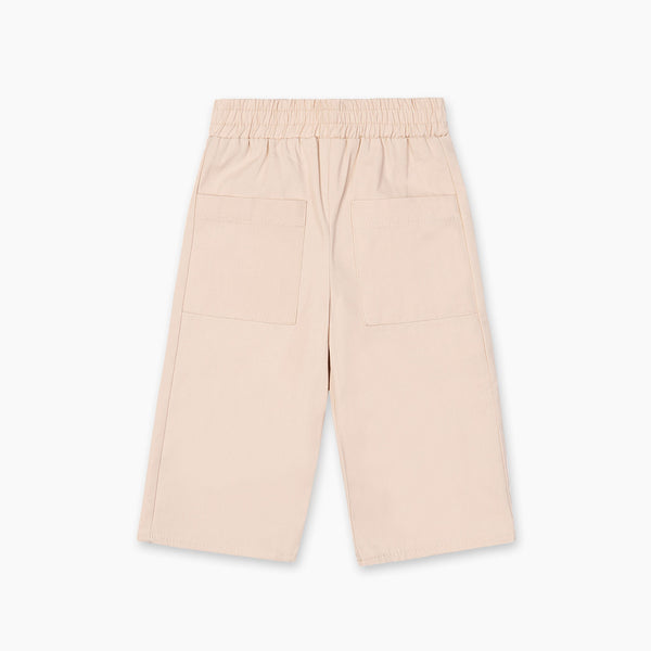 The Natty Trousers with Oversized Pockets - Beige