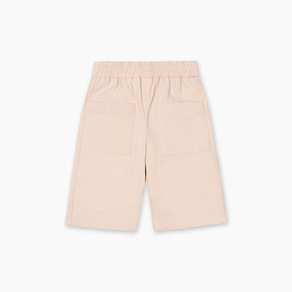 The Natty Shorts with Oversized Pockets - Beige