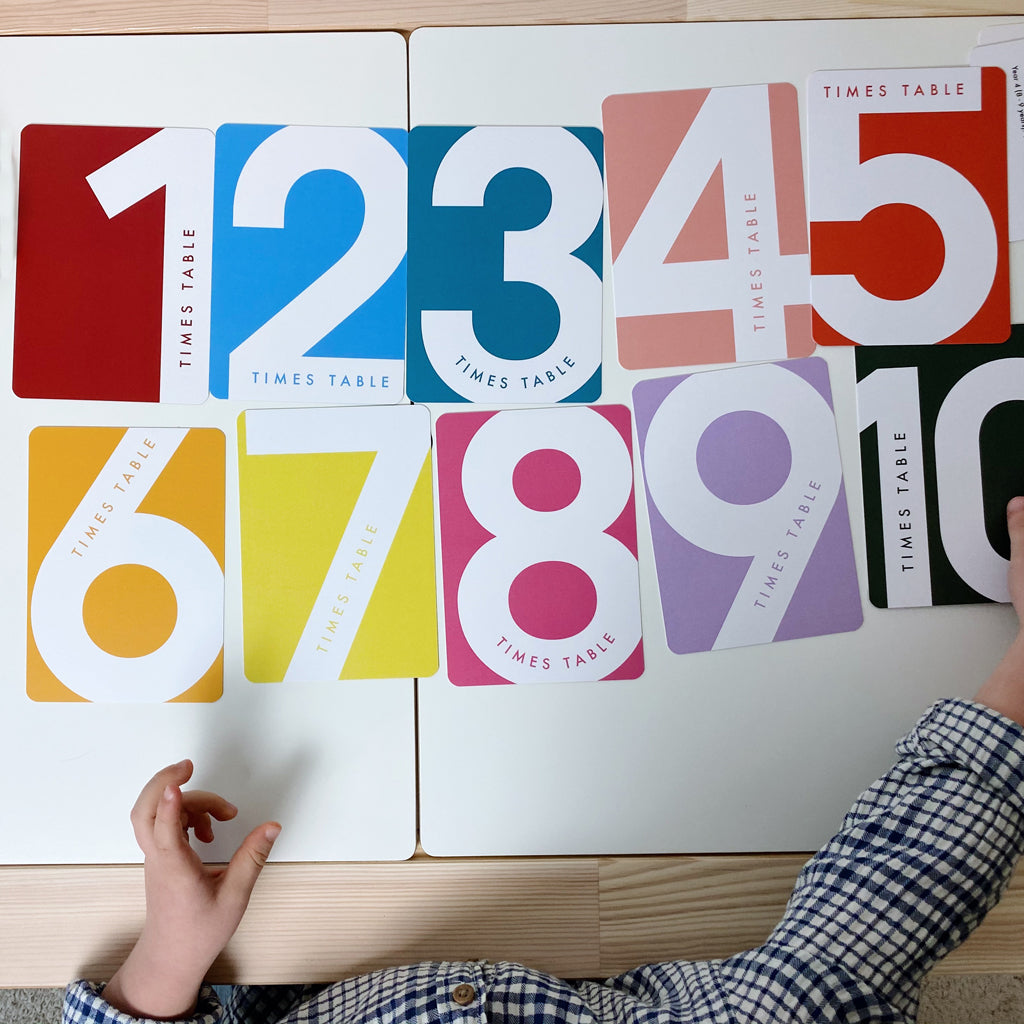 Children's Times Tables Flashcards
