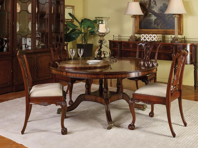 Aged Regency Finished Expandable Dining Table-8103-35