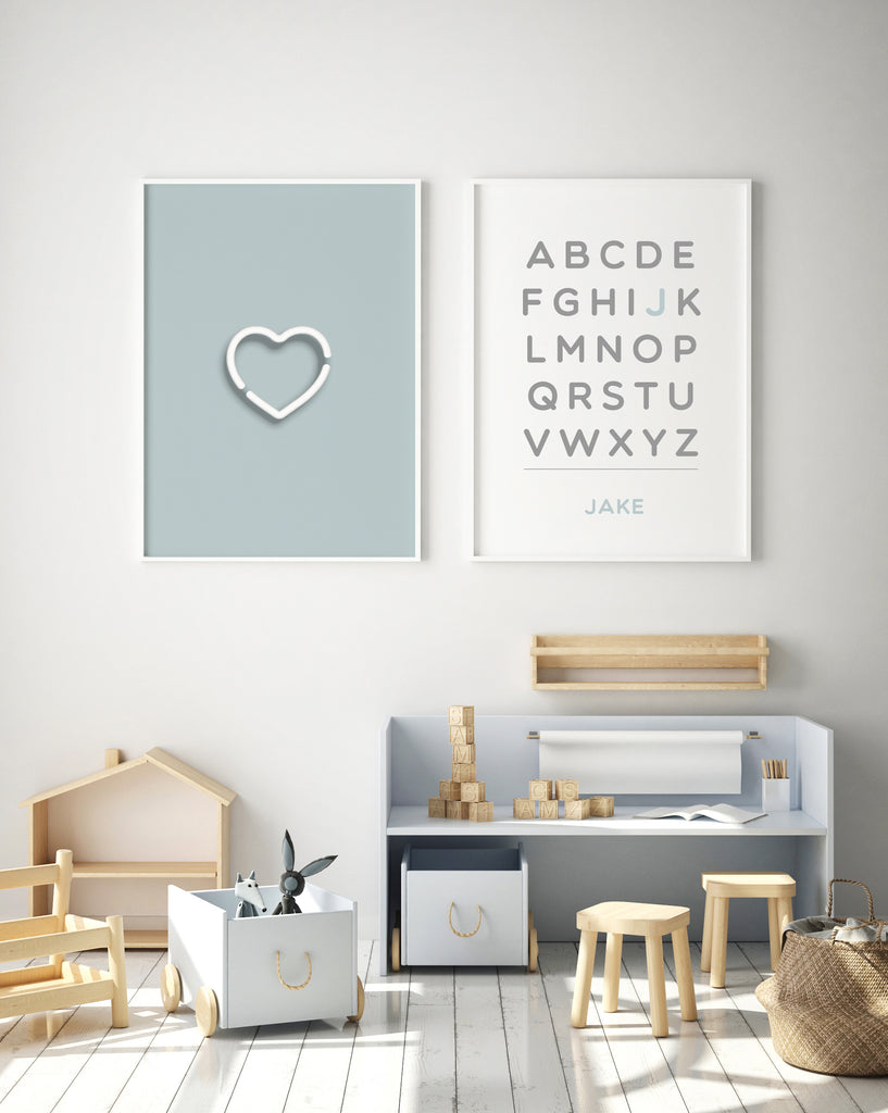 Digital Print Customized Alphabet - The Urban Nursery