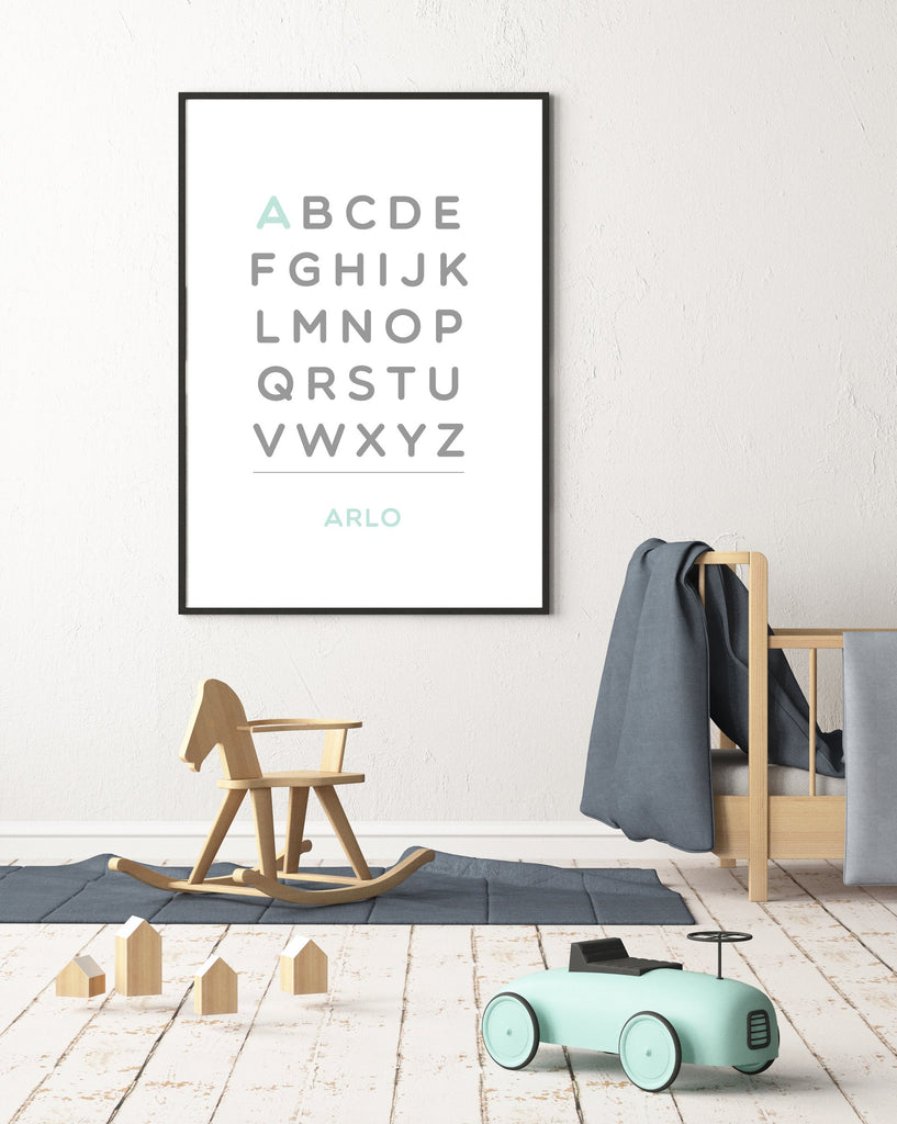 Customized Alphabet 12X16 Art Print