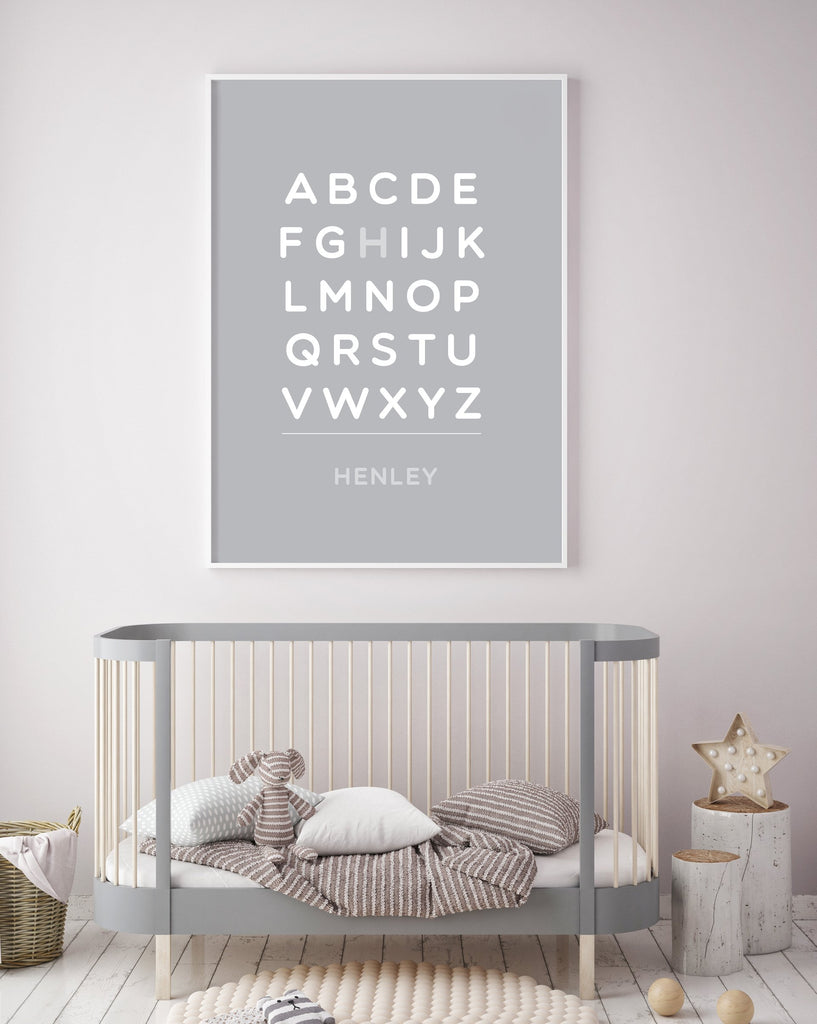Customized Alphabet Bold 18x24 Art Print