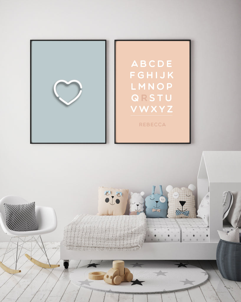 Digital Print Customized Alphabet Solid Colour - The Urban Nursery