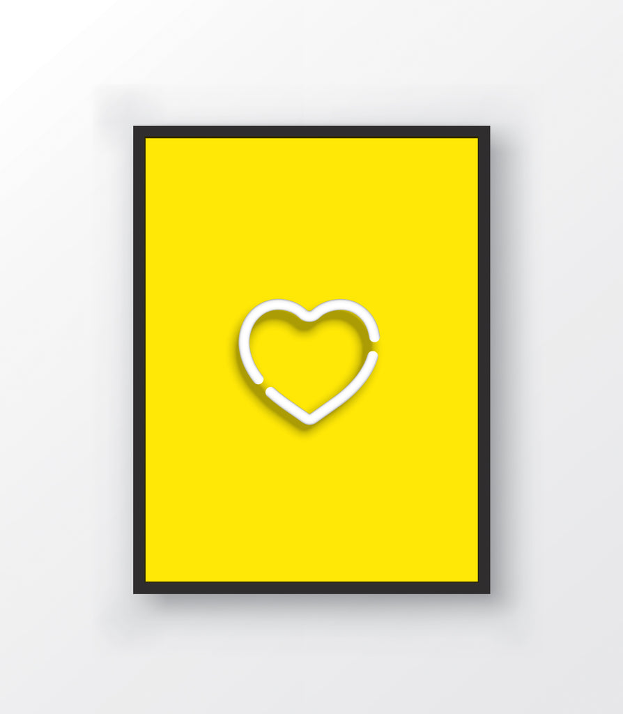 Neon Yellow Heart Print - The Urban Nursery