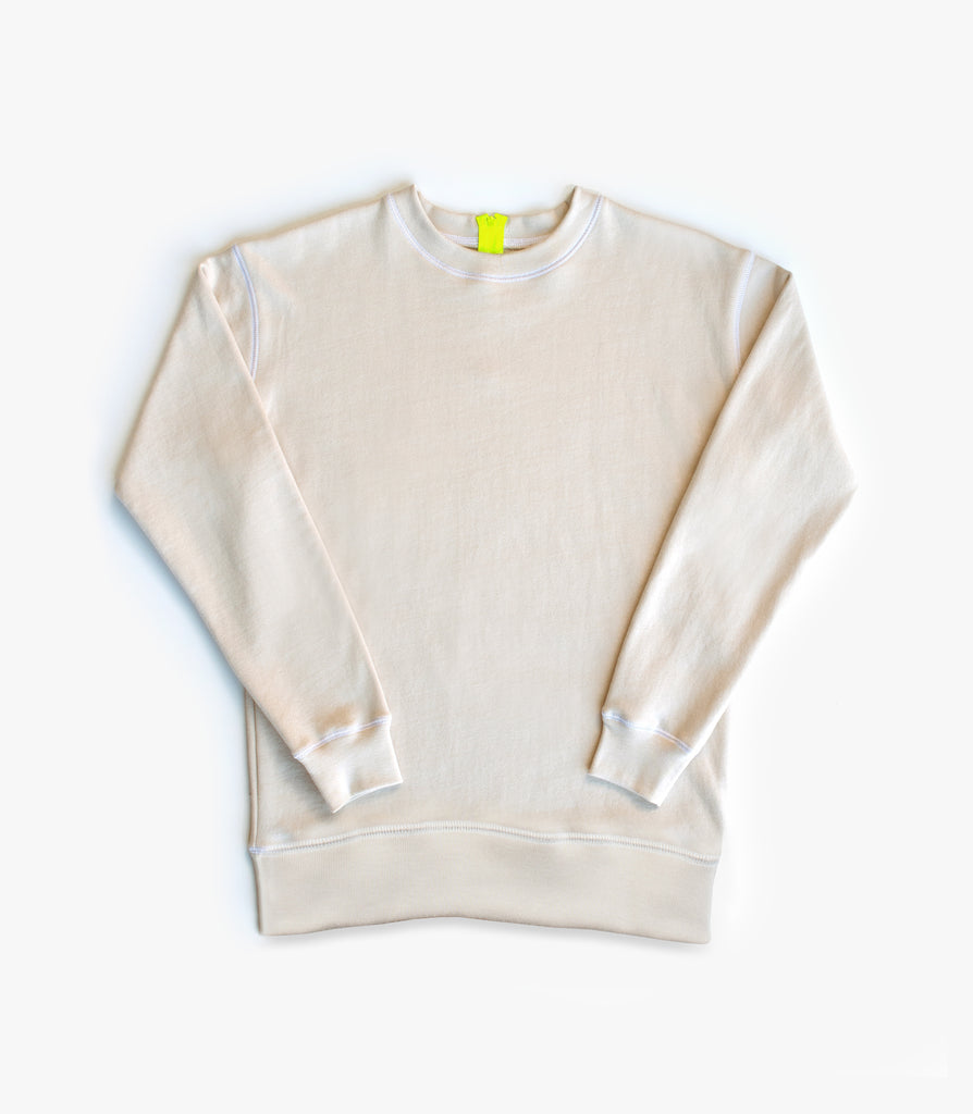 Adult Zip Back Sweater in Yellow