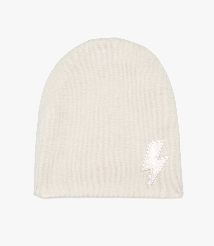 High Voltage Beanie in Cream - The Urban Nursery