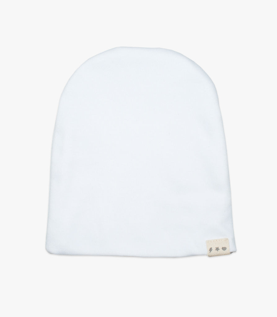High Voltage Beanie in White - The Urban Nursery