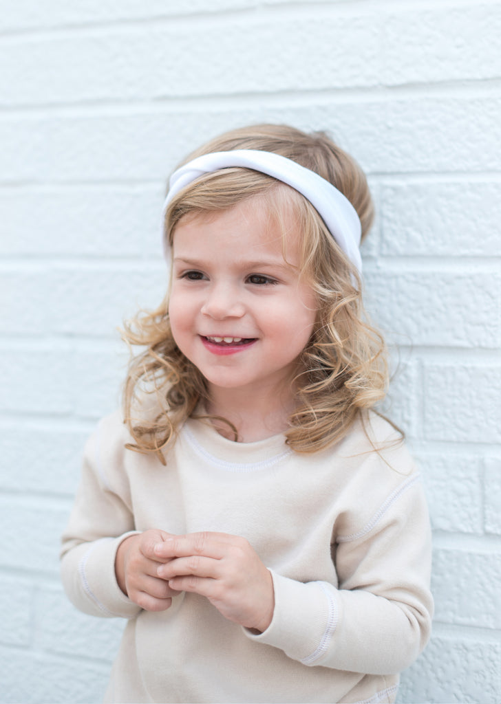 Twisted Headband in White - The Urban Nursery