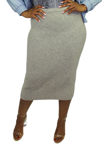 The Popper Wool Skirt