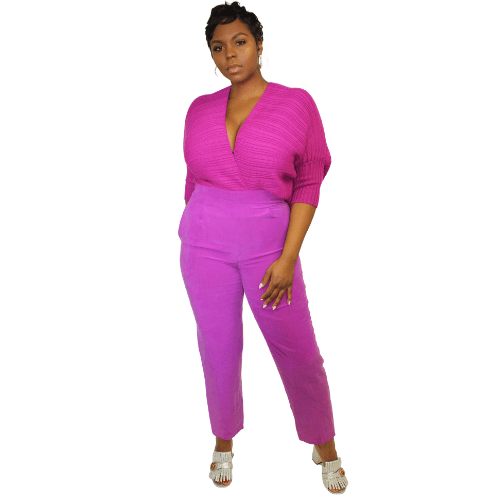 Silk Fuchsia Pants