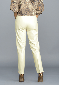 The Cream Leather Pants