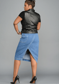 The Denim Pencil Skirt