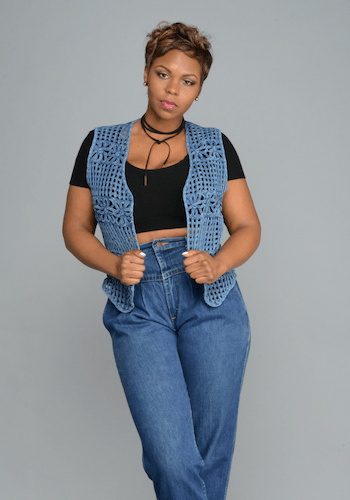 Weaved Denim Vest