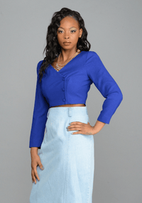 Royal Blue Crop Blazer