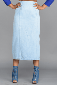 The Light Denim Skirt