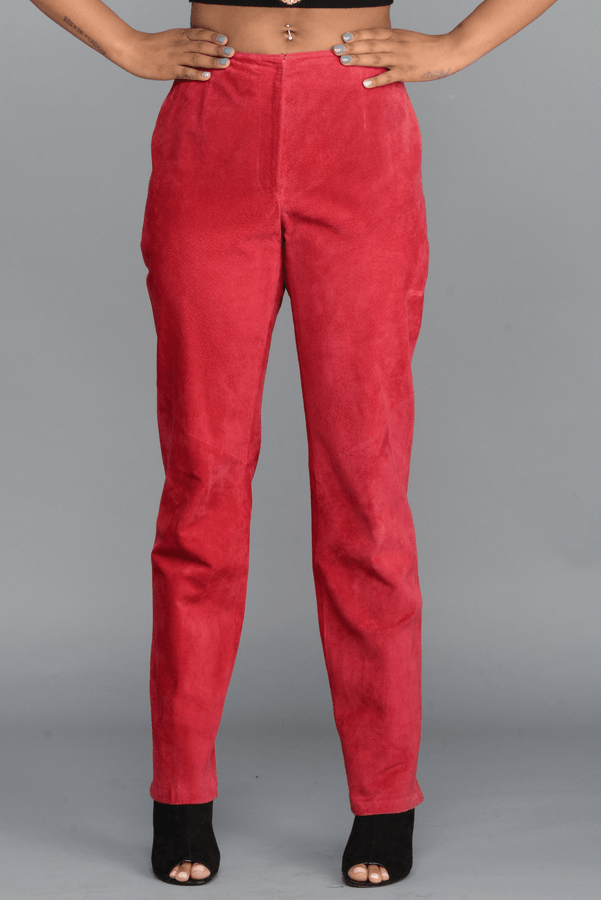 The Red Velvet Pants