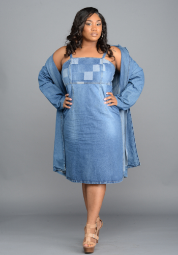The Patchwork Denim Dress