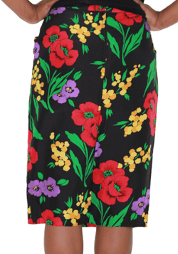 The Silk Floral Skirt