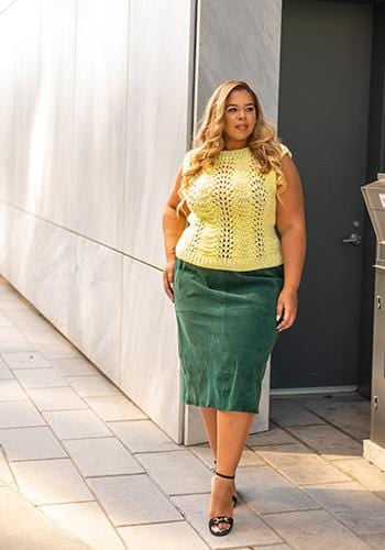 The Emerald Suede Skirt