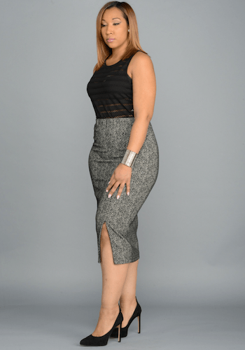 The Zipper Pencil Skirt