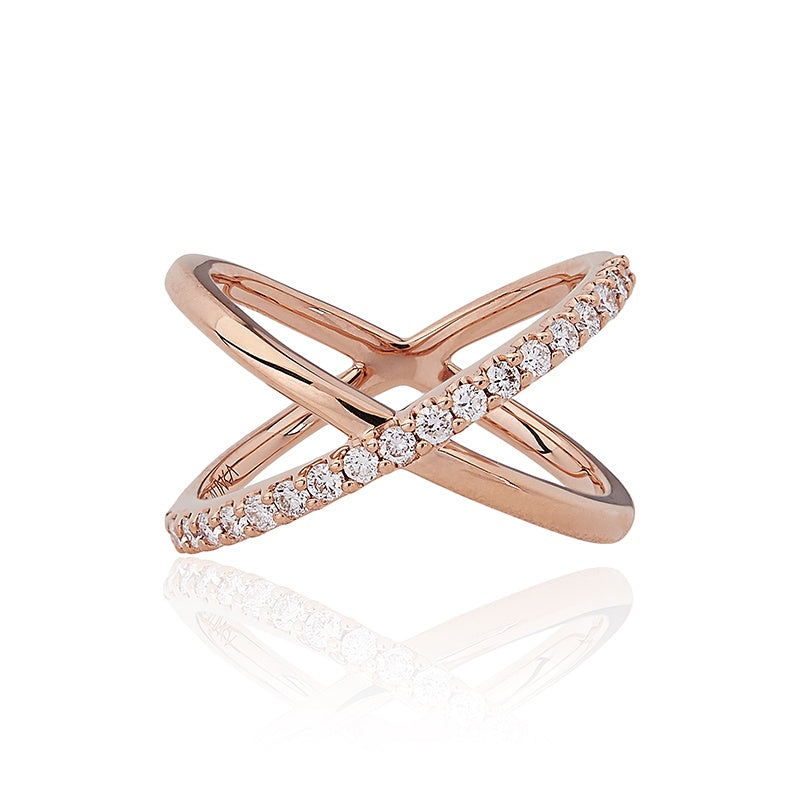 KATIA Single Crossover Diamond Ring