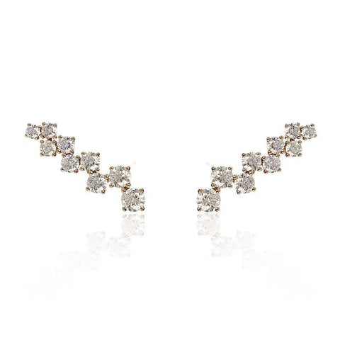 EVA Cuff Earring White Diamonds