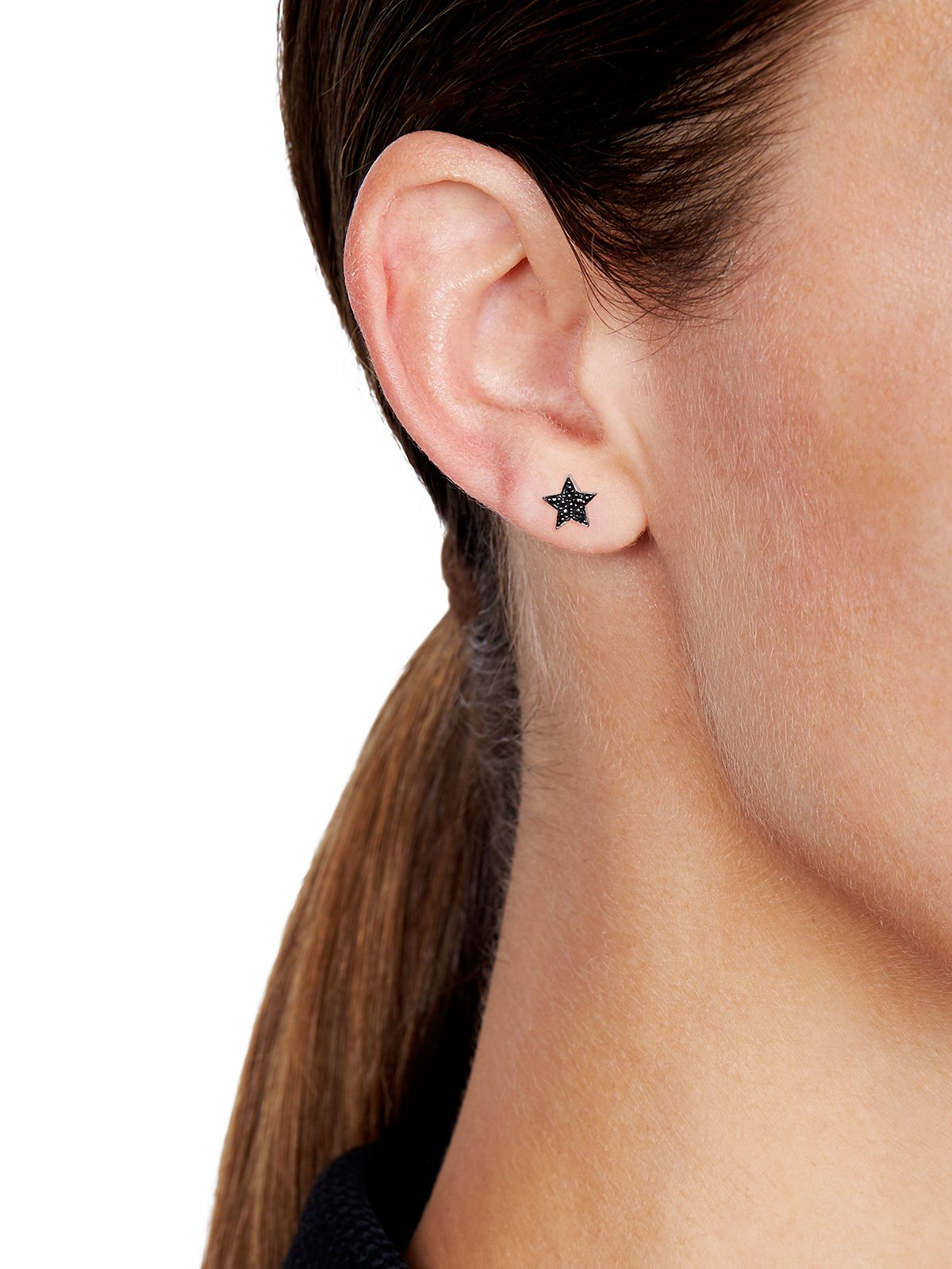 STASIA MINI Multiwear Black Diamond Drop Stud