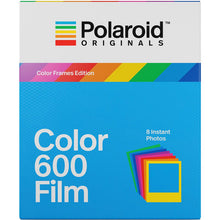 Load image into Gallery viewer, Polaroid Originals Color 600 Instant Film (Color Frames Edition, 8 Exposures)