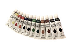 38-Piece Acrylic Paint Set Including Paints, Colored Pencils, Canvas, and More
