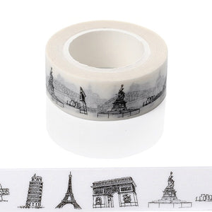 Sketched Paris Eiffel Tower Japanese Washi Tape
