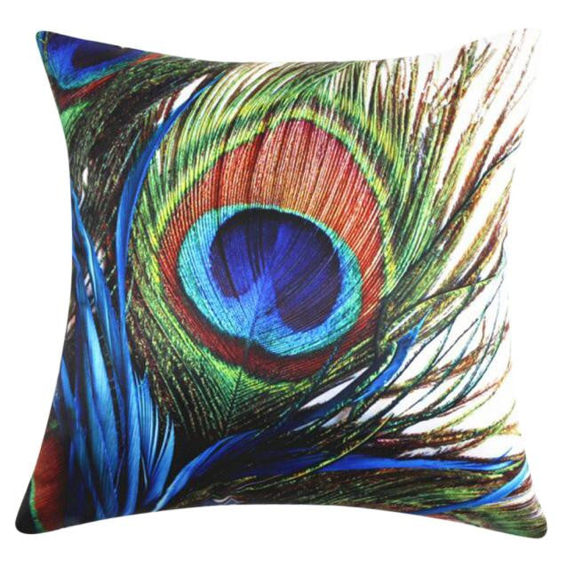 Peacock Throw Pillow Cover