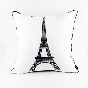Eiffel Tower Pillow Cover