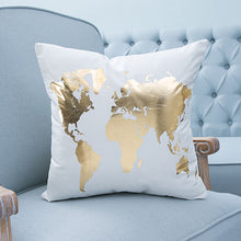 Gold & White  Pillow Case Cover