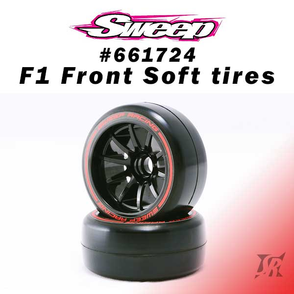 Sweep F1 Front Soft compound V6 Low Profile 2pcs - 661824