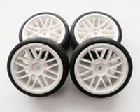 USGT Pre Glued Tires ( GT Wheel, White)