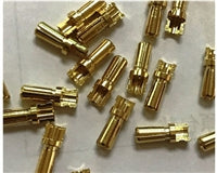 TQ Wire 3.5mm Male Bullet Connectors (Gold) (3)