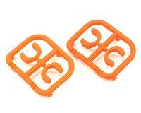 XRAY 3.5mm Plastic Drive Pin Clips (4) (Orange) - XRA305242