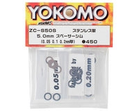 Yokomo 5x8mm Spacer Shim Set (0.05, 0.1 & 0.2mm)
