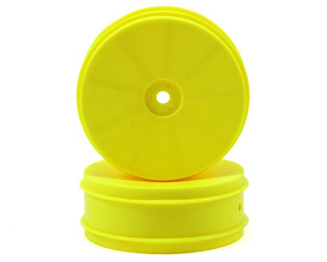 "AKA 12mm Hex ""EVO"" Front Wheels (2) (B6/RB6) (Yellow) - AKA23212Y"
