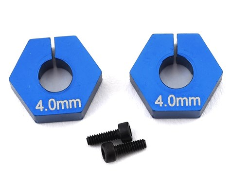 Team Associated RC10 B6.2 4.0mm Clamping Wheel Hex (Blue) (2) - 91862