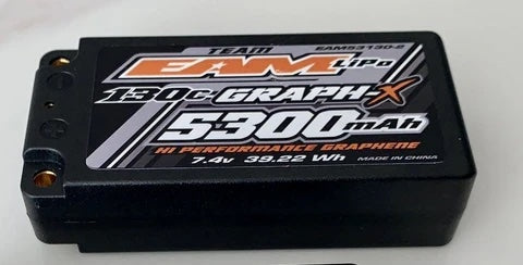 TEAM EAM 5300MAH 2S - 130C ULCG GRAPH-X FORMULA BATTERY - SHORTY LIPO