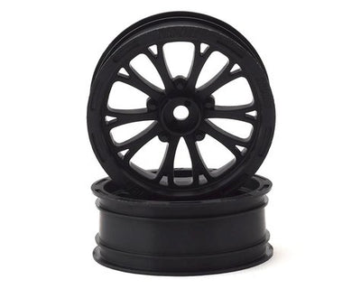 "Pro-Line 2WD Pomona Drag Spec 2.2"" Front Drag Racing Wheels (2) w/12mm Hex (Black) - 2775-03"