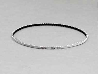 Radtec - Low Friction White Front Drive Belt (S3M351) for Stock (A800) Mid Motor