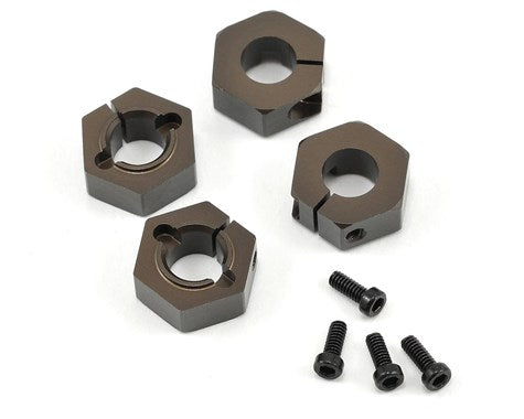 Tekno RC 12mm Aluminum M6 Driveshaft Hex Adapter Set (4)