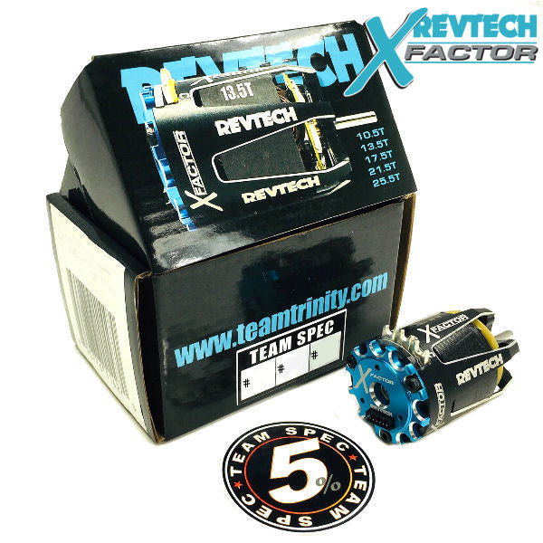 X-FACTOR 13.5T SPEC CLASS BRUSHLESS MOTOR - Team Spec 5% - REV1101T