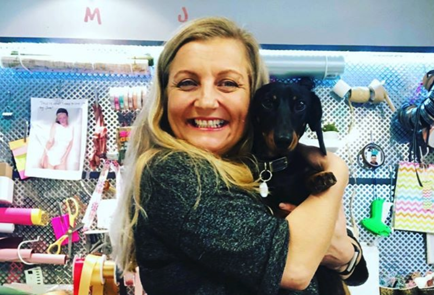 miller & co founder Joanna Eriksen with Forest The Dog